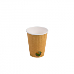 12oz Compostable INSULATED Double-Wall Hot Cup *NO SLEEVE NEEDED
