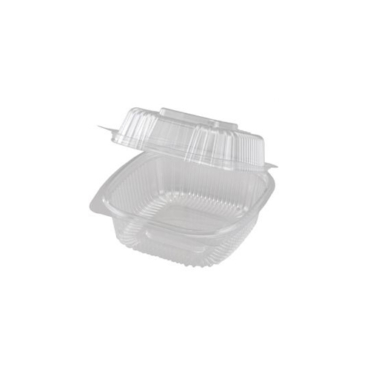 COMPOSTABLE CLEAR HINGED CLAMSHELLS
