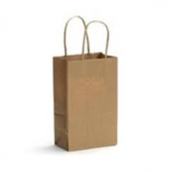 KRAFT SHOPPING BAGS WITH HANDLE