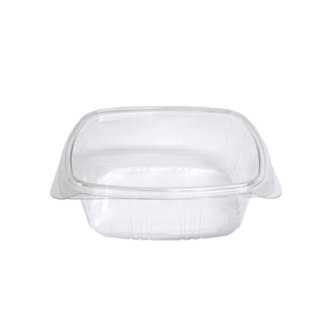 COMPOSTABLE CLEAR HINGED DELI CONTAINERS