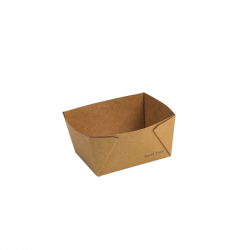 #1 Earth Kraft Paper Food Tray Lined