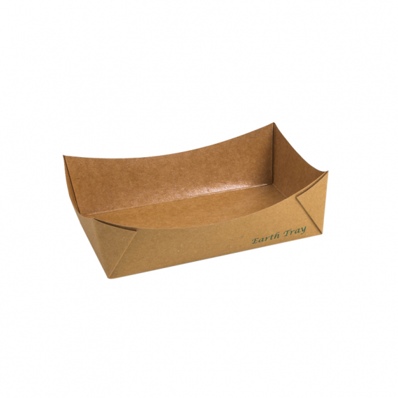 # 3 Earth Kraft Paper Food Tray Lined