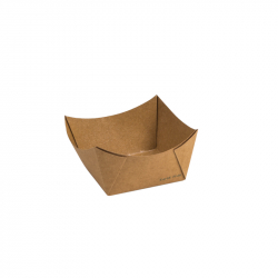 #6 Earth Kraft Paper Food Tray Lined