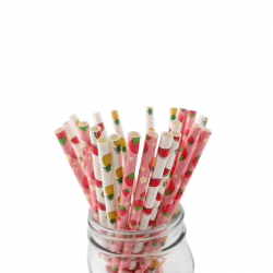 Paper Straw Fruit Mix